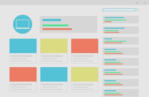 illustrasjon av en nettside med stort innhold, en nettside