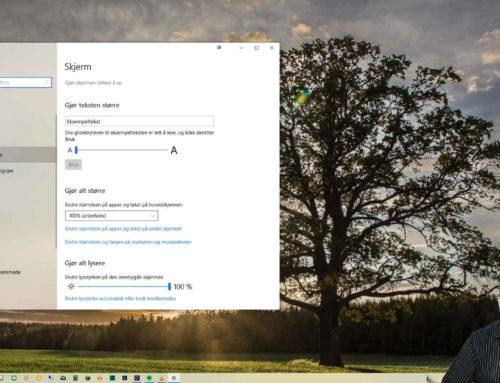 Slik endrer du musepekeren i Windows 10